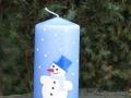 Svíčka se sněhulákem