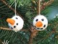 Náušnice se sněhuláky