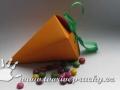 Papírová mrkev-krabička