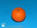 Pomeranč z plastelíny