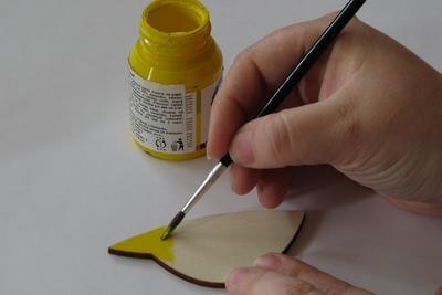 Malování výseku z překližky