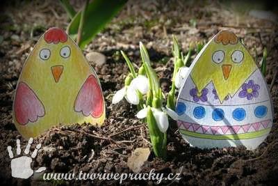 Velikonoční stojánky pro děti