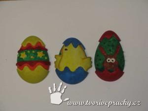 Pomalovaná vajíčka ze sádry