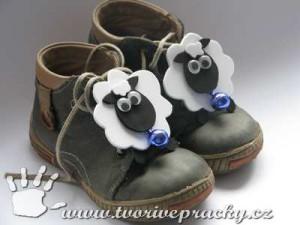 Velikonoční ozdoby na boty-ovečky