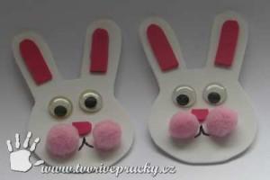 Velikonoční ozdoby na boty - králík,zajíc