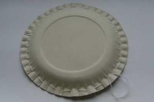 Ukázka druhé strany talíře s osnovou