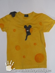 Tričko sýr s myškama
