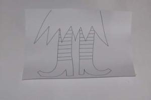 Nákres - nohy čarodějnice