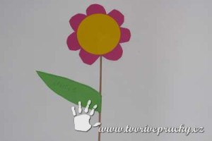 Květina pro maminku s fotkou