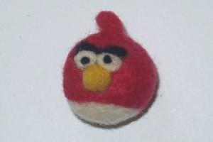 Plstěný přívěsek angry birds