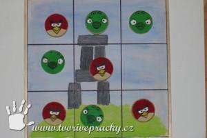 Piškvorky angry birds z překližky