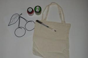 Materiál na pomalování tašky
