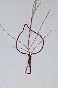 Kostra listu s žilkama
