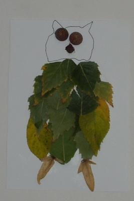 Sova z listů
