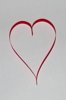 Srdce z papírových pruhů