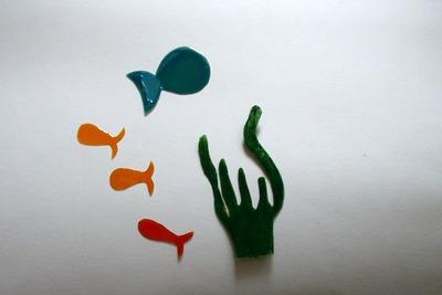 Rybičky z fólie
