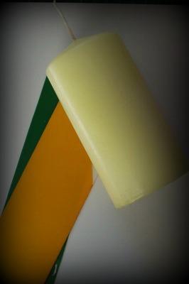materiál na výrobu podzimní svíčky