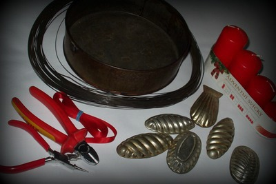 Materiál na výrobu adventního svícnu do kuchyně