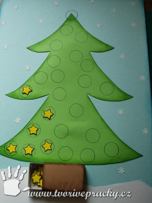 Adventní kalendář strom