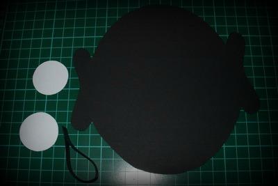 Díly na výrobu papírové čerta s jazykem z frkačky