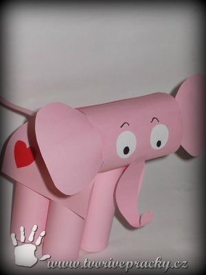Slon z papíru