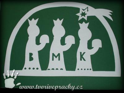 Vystřihnutá šablona třech králů
