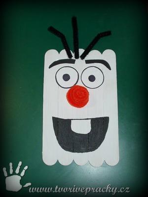 Sněhulák Olaf ze špachtlí