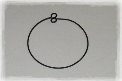 Kruh z drátu a očky na výrobu drátované ozdoby na vánoční stromeček