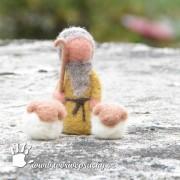 Plstěný pastýř s ovečkama