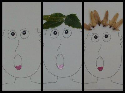 Vlasy z listů