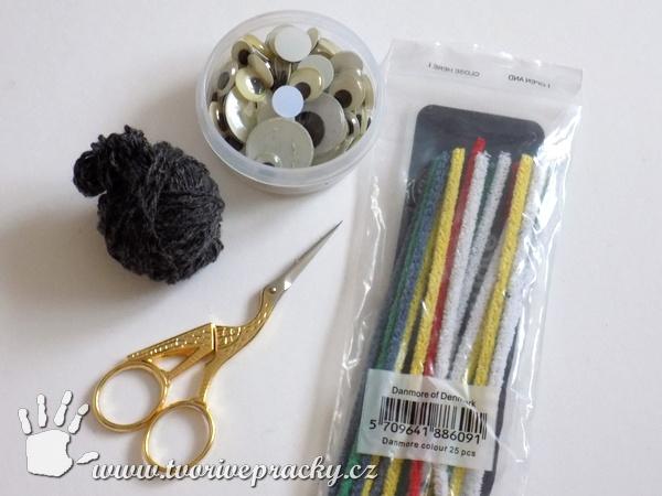 Materiál k výrobě pavouka do vlasů