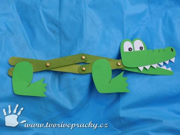 Kousací krokodýl ze špachtlí