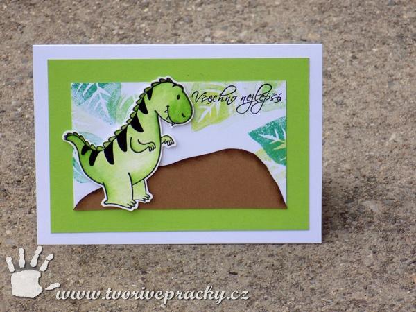 Přání s dinosaurem
