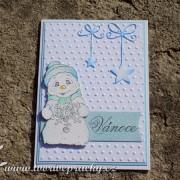 Vánoční přání s velkým sněhulákem