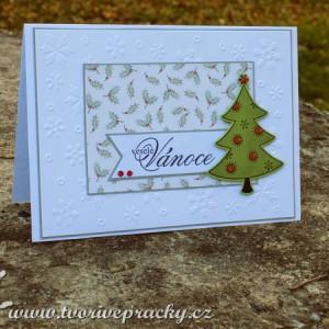 Vánoční přání se stromečkem