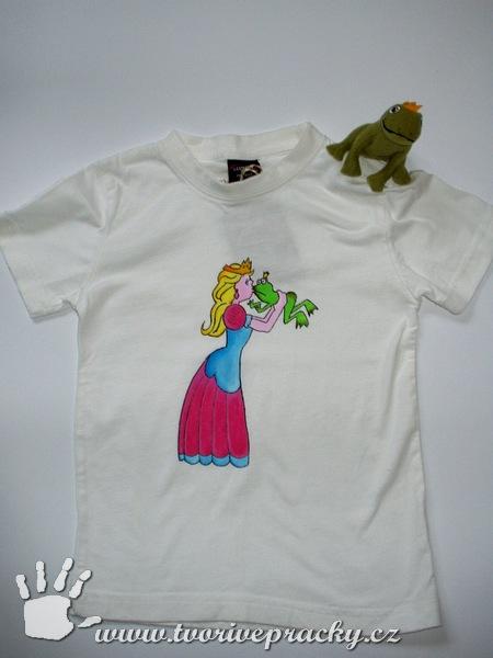 Tričko pro princezny s žabím princem a maňáskem