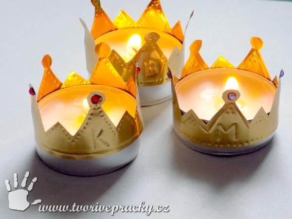 Tříkrálové svícny na čajové svíčky