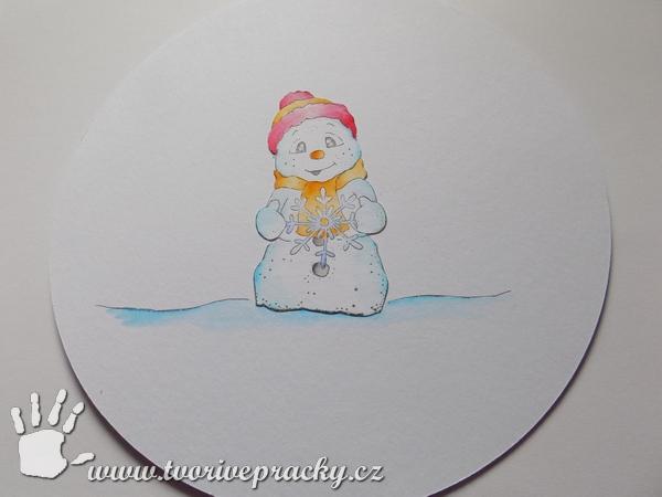 Obrázek do papírového sněžítka