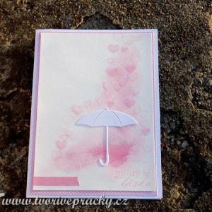 Přání z lásky s deštníkem