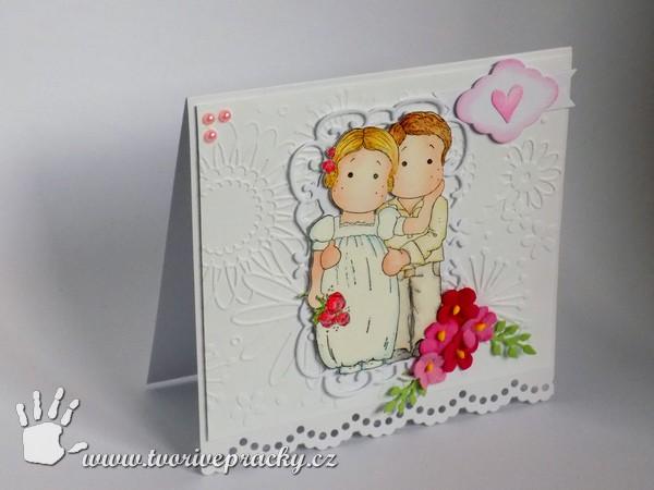 Bílé svatební přání