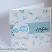Přání pro miminko se slony