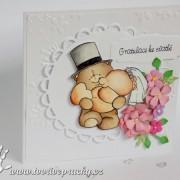 Svatební přání s medvědy