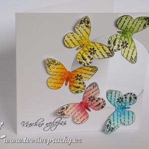Přání s motýlky