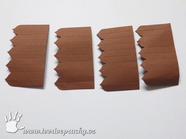 Části papírové rozety