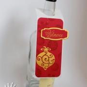 Vánoční visačka na láhev