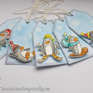 VIsačky s tučňáky
