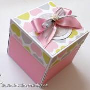 Srdíčková svatební krabička
