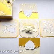 zlatá svatební krabička na peníze