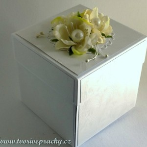 Svatební bílá krabička na darování peněz
