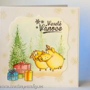 Veselé vánoční přání s prasátky